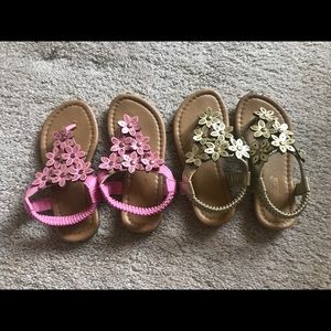 Other - Toddler girl 8 sandals 2 for $10